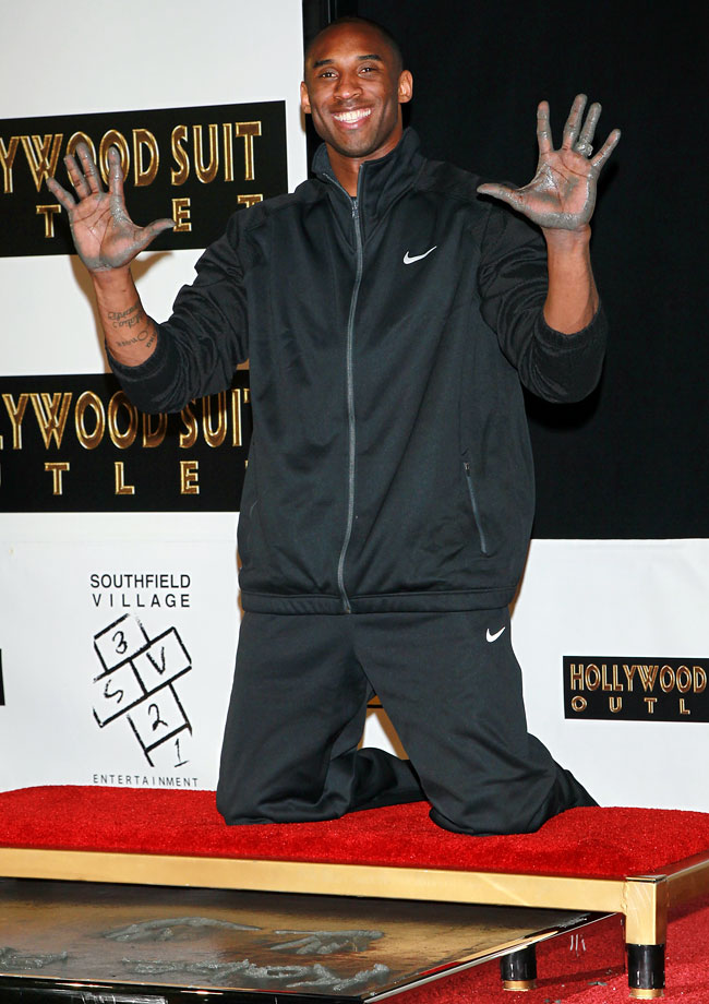 Bryant is honored at Grauman's Chinese Theater in Feb. 2011.