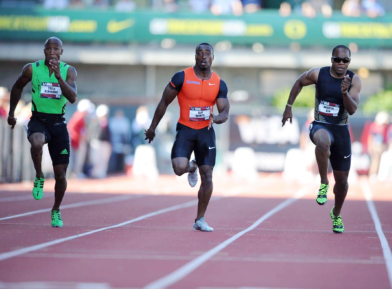 Walter Dix and Jeff Demps compete during the 2011 Outdoor Track and Field Championships.