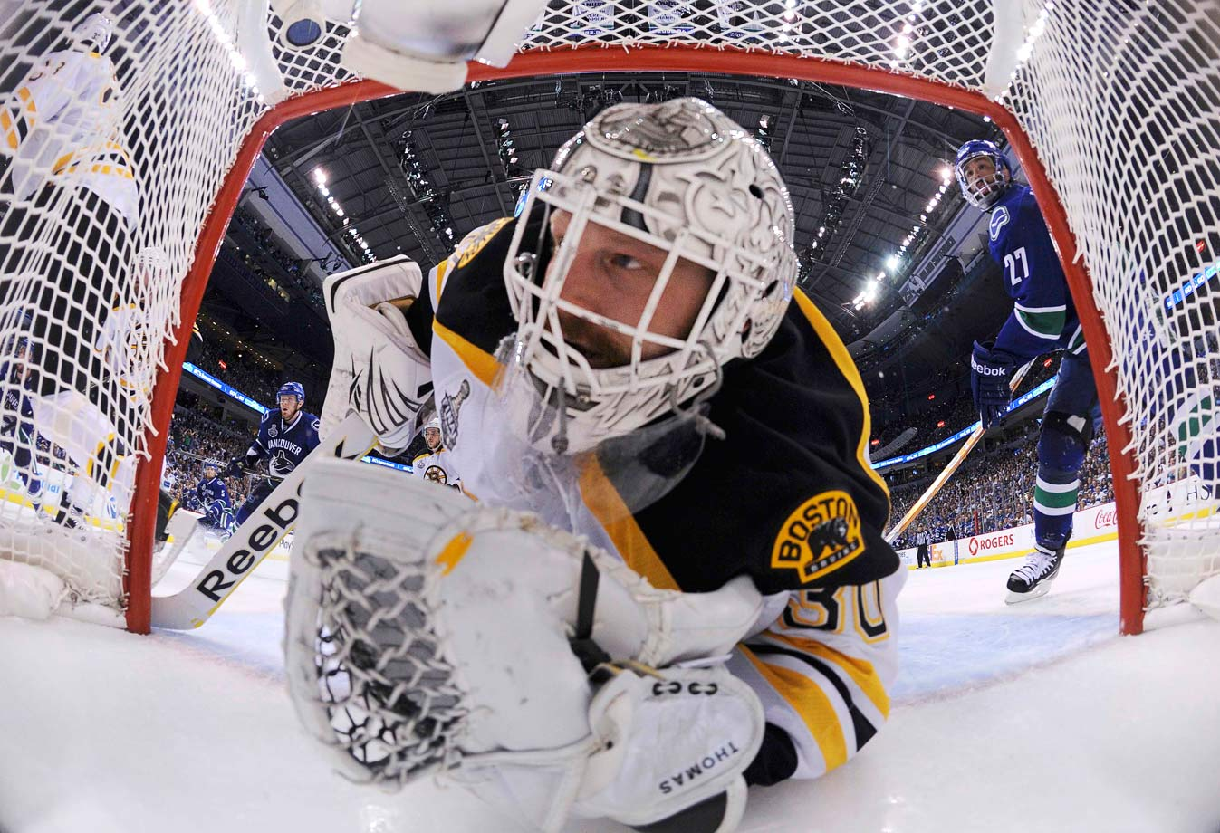 The Bruins' Vezina Trophy-winning goalie figuratively owned his net during the playoffs, stopping 94 percent of the shots he faced and averaging a 1.98 GAA in 25 games. At 37, Thomas became the oldest player to win the Conn Smythe Trophy and Boston won its first Stanley Cup since 1972.