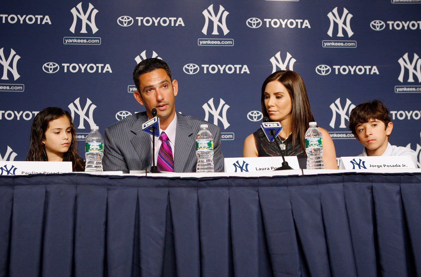 Jorge Posada, wife Laura, daughter Paulina and son Jorge Jr.