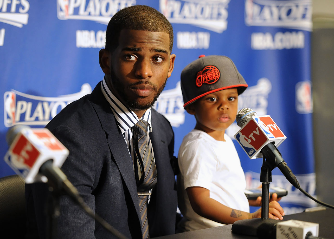 Chris Paul and son Chris II