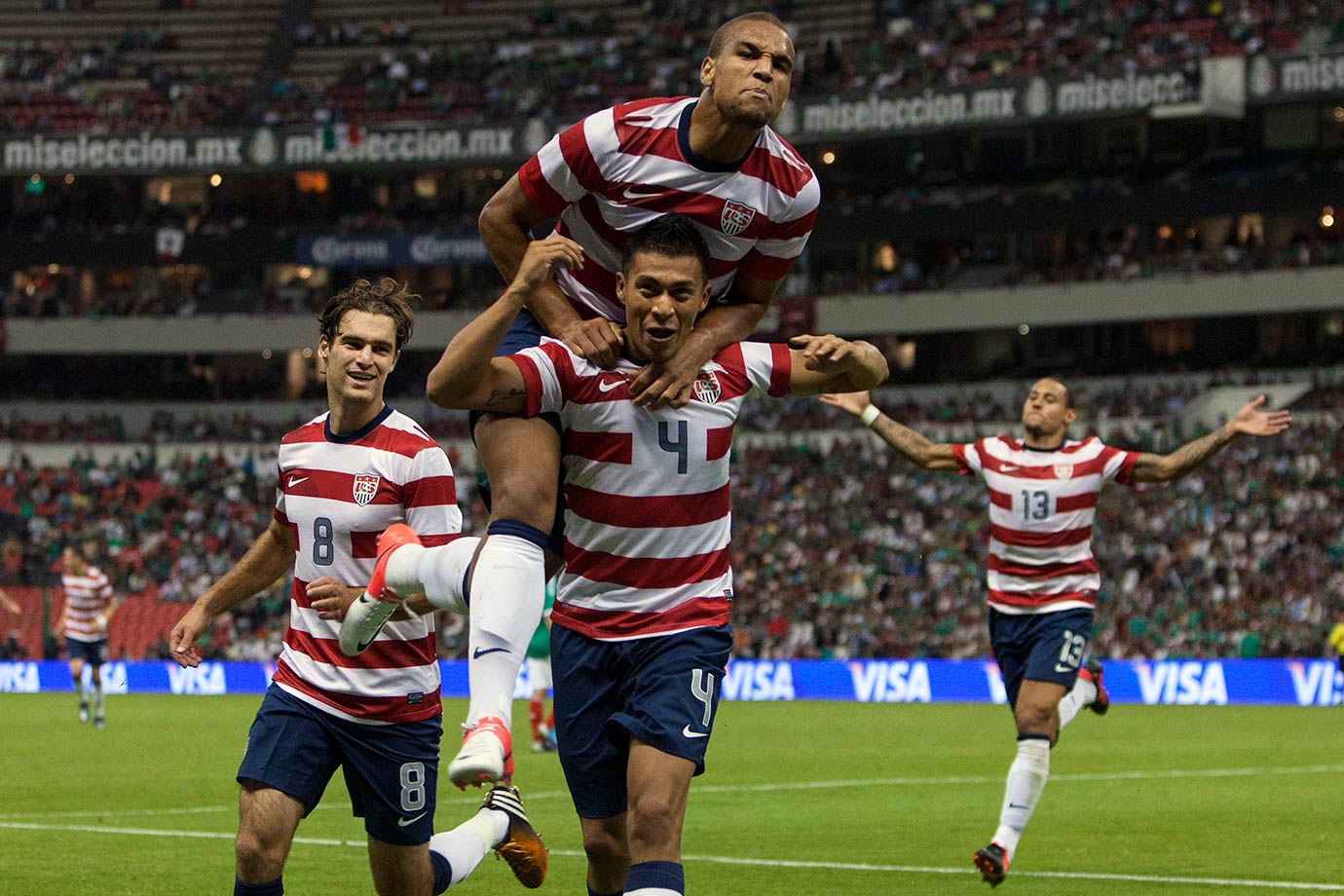 It took 25 attempts, but after this friendly, the United States could finally say that it had won at Mexico City's Azteca Stadium. Despite being outplayed for most of the match, the U.S. won thanks to an 80th-minute goal from Michael Orozco Fiscal — the first international goal of his career.