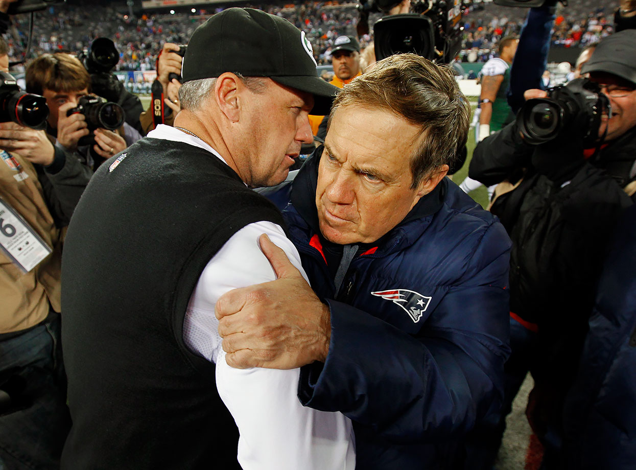 """My first thought was I looked and I saw who was second and [thought], 'Hey, I finally beat Belichick at something. I got him. I knew it would take time, but I finally got him.'"" — November 2012, after being voted the Most Overrated NFL Head Coach in a Sporting News poll"