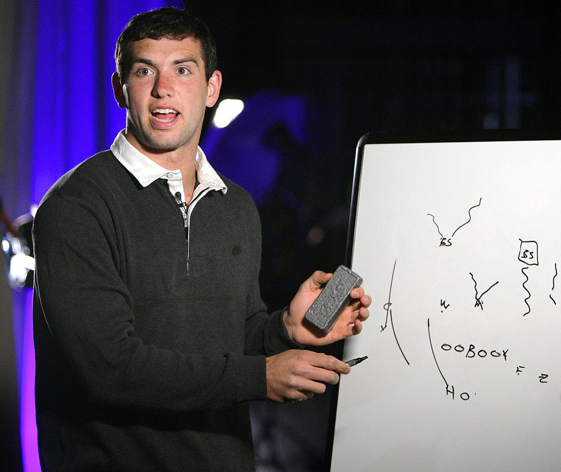 Andrew Luck attends the 75th Annual Maxwell Football Club National Awards Dinner Press Conference on March 2, 2012 at Harrah's Resort in Atlantic City, N.J.