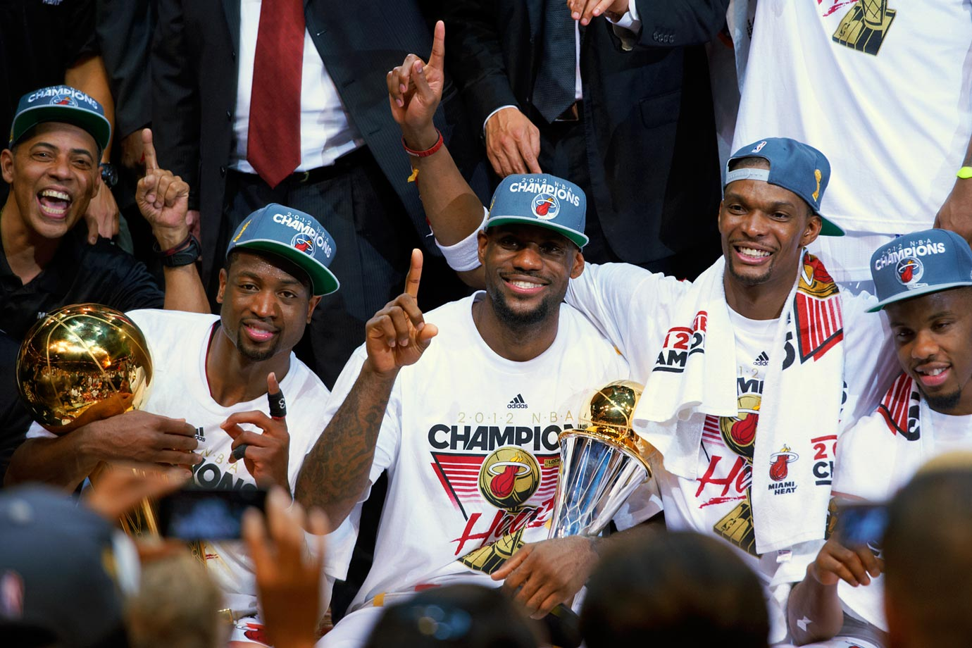 Following a triple-double of 26 points, 13 assists and 11 rebounds that was representative of his play throughout the Finals, LeBron James won his first championship after nine seasons in the NBA. Two years earlier, he was vilified for the way he left Cleveland, and for believing that winning the championship would take care of itself now that he was playing with Dwyane Wade and Chris Bosh. One year earlier, he watched Dirk Nowitzki redeem his own career with a championship earned at James' expense. But in 2012, LeBron got his title and was named MVP of the Finals in the process.