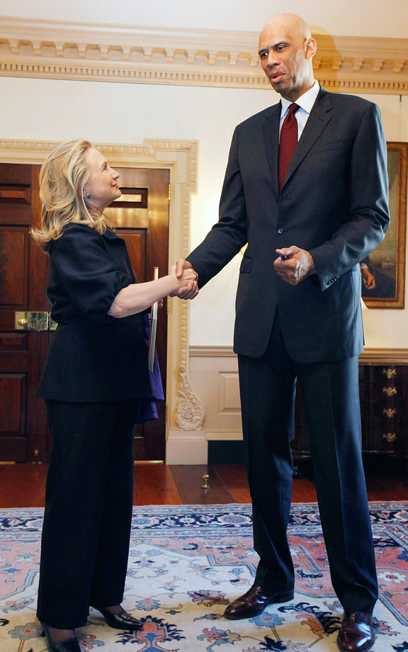 with Secretary of State Hillary Clinton
