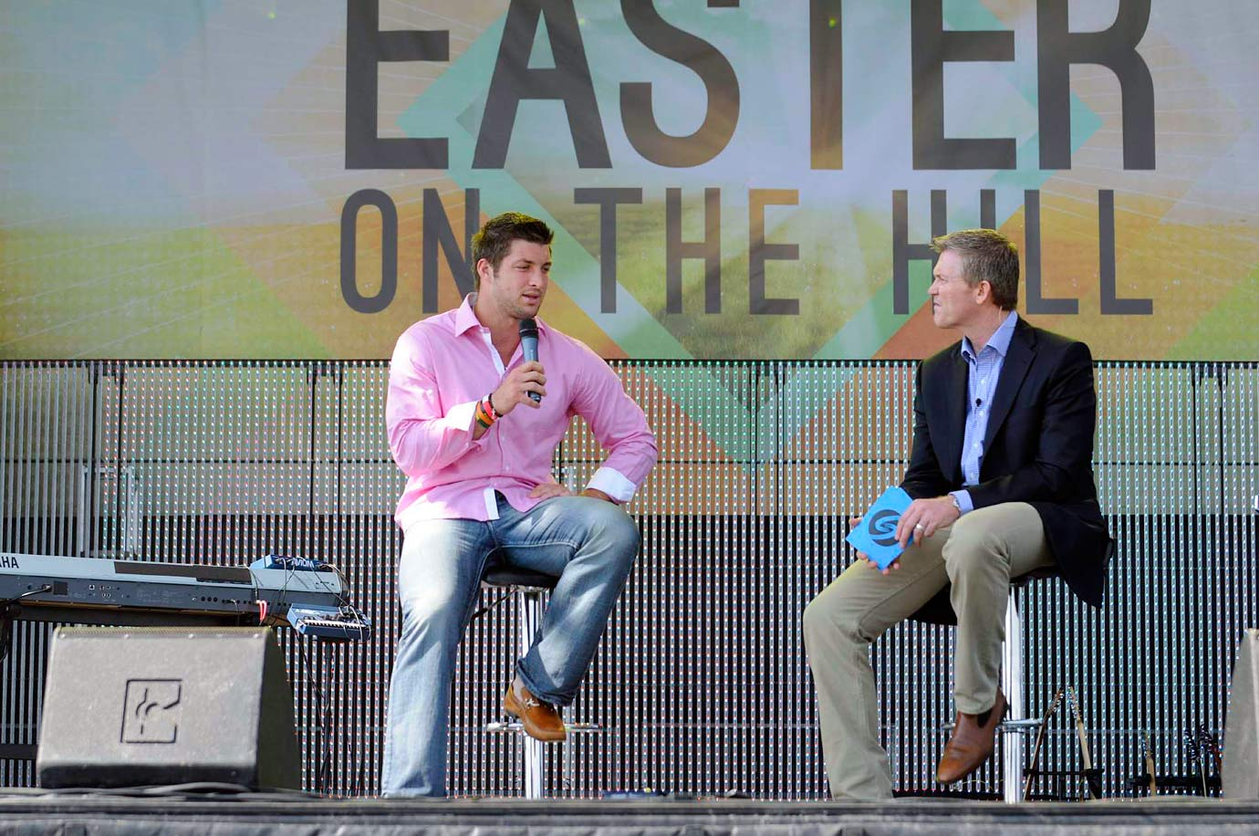 In April, a crowd of nearly 15,000 gathered at an outdoor Easter church service in Georgetown, Texas to hear Tim Tebow deliver a sermon at an outdoor service held by the Celebration Church.
