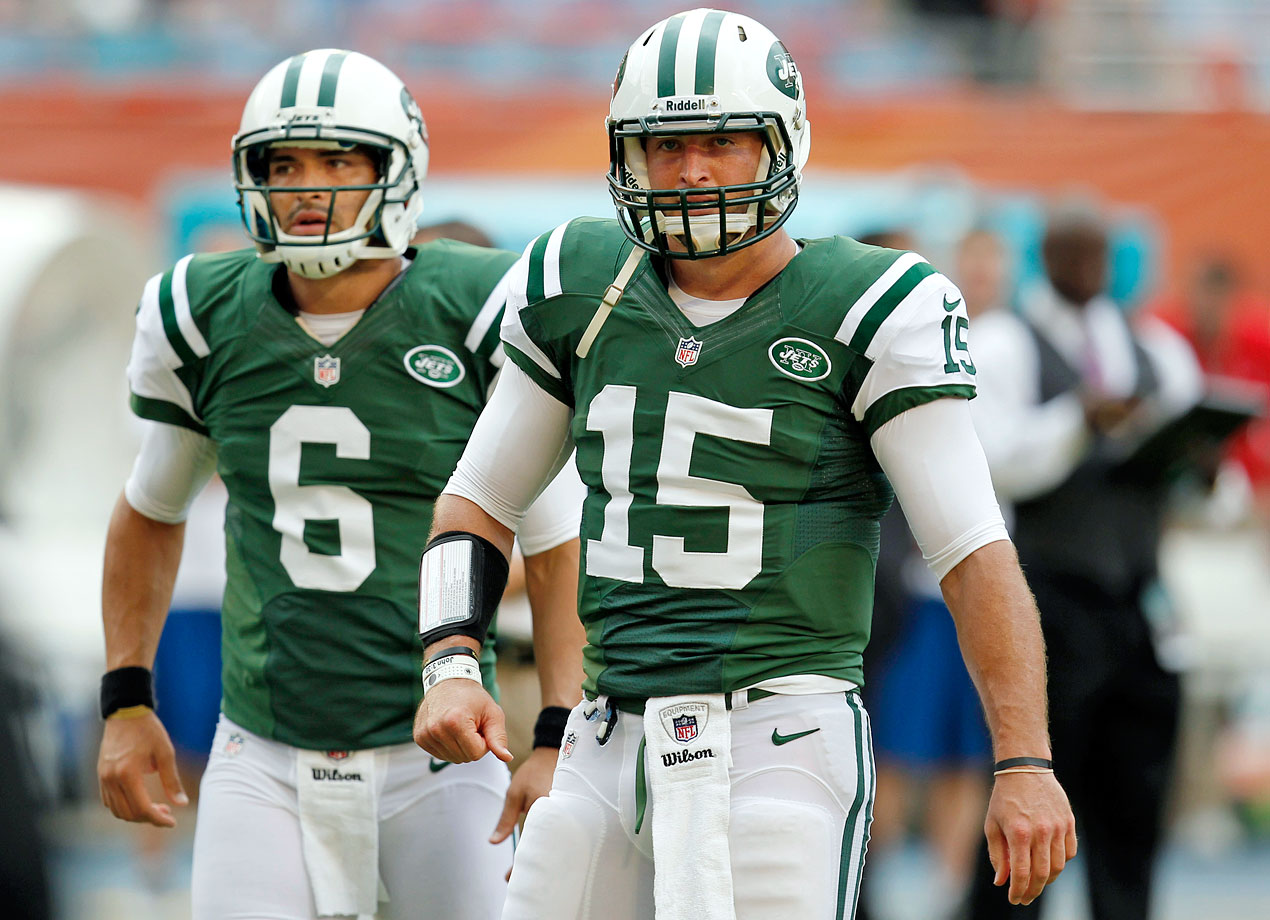 Tim Tebow spent the 2012 season with Mark Sanchez and the Jets, then was released, but signed with the Patriots in June 2013.
