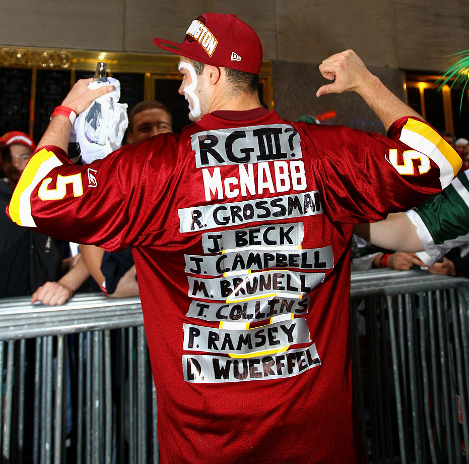 Washington Redskins fan in 2012.