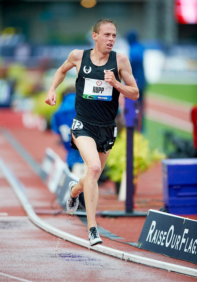 Galen Rupp vies in the 10,000-meter finals at the Olympic trials in 2012.