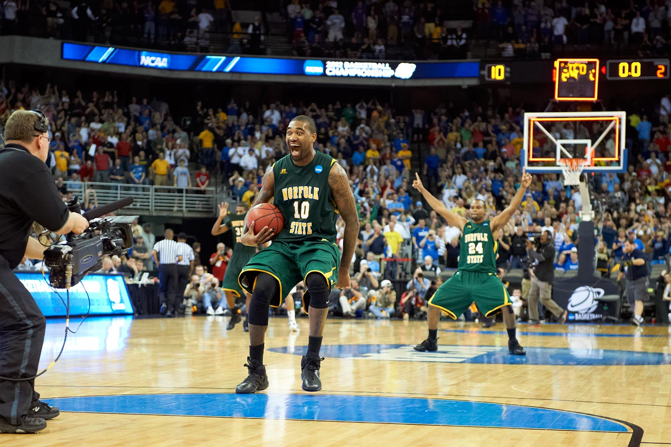 Kyle O'Quinn put together the finest game of his career at the biggest moment in the history of Norfolk State basketball. The senior finished with 26 points and 14 rebounds, helping the No. 15 seed Spartans to an 86-84 victory over the second-seeded Tigers.