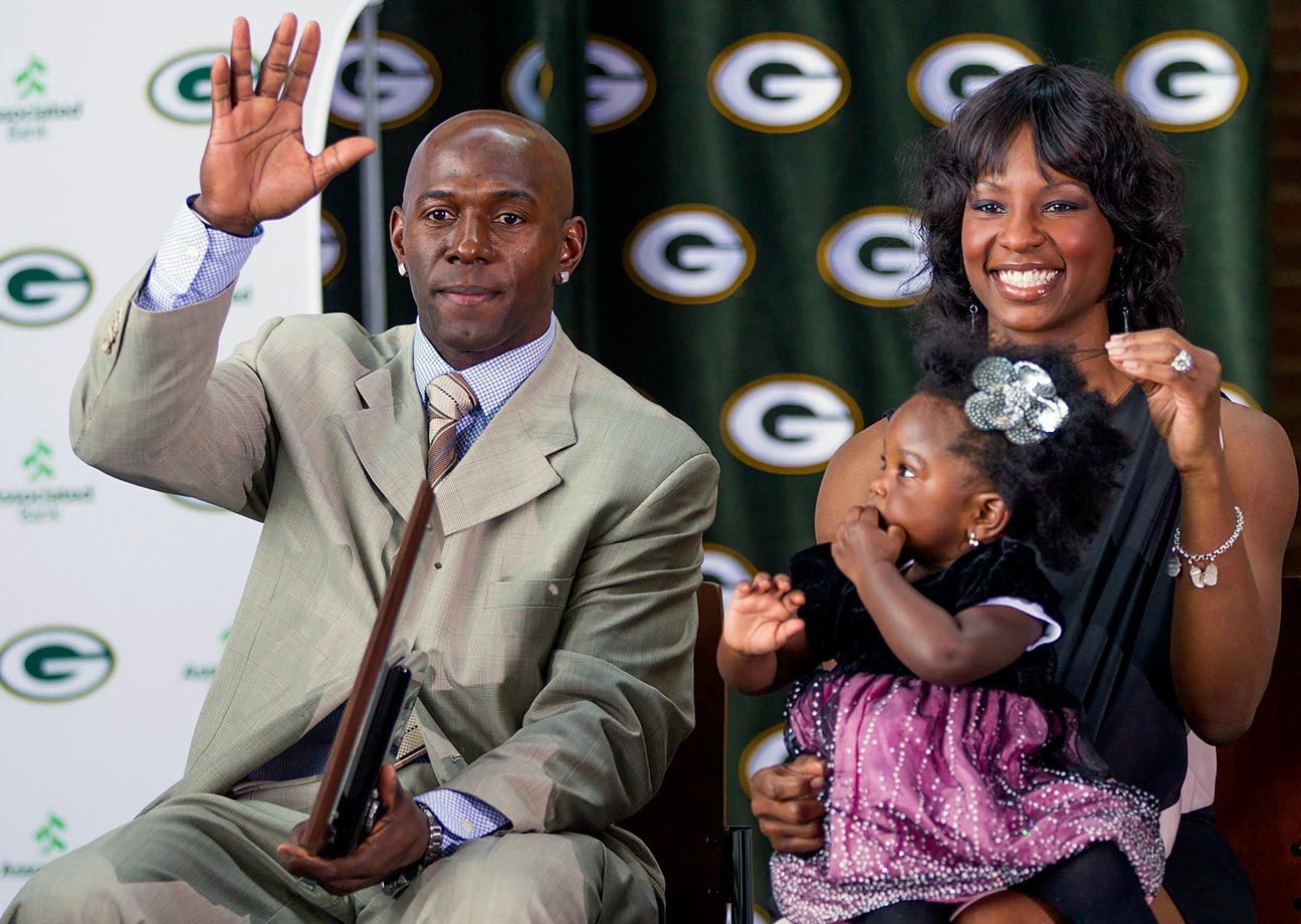 Donald Driver, wife Betina and daughter Charity