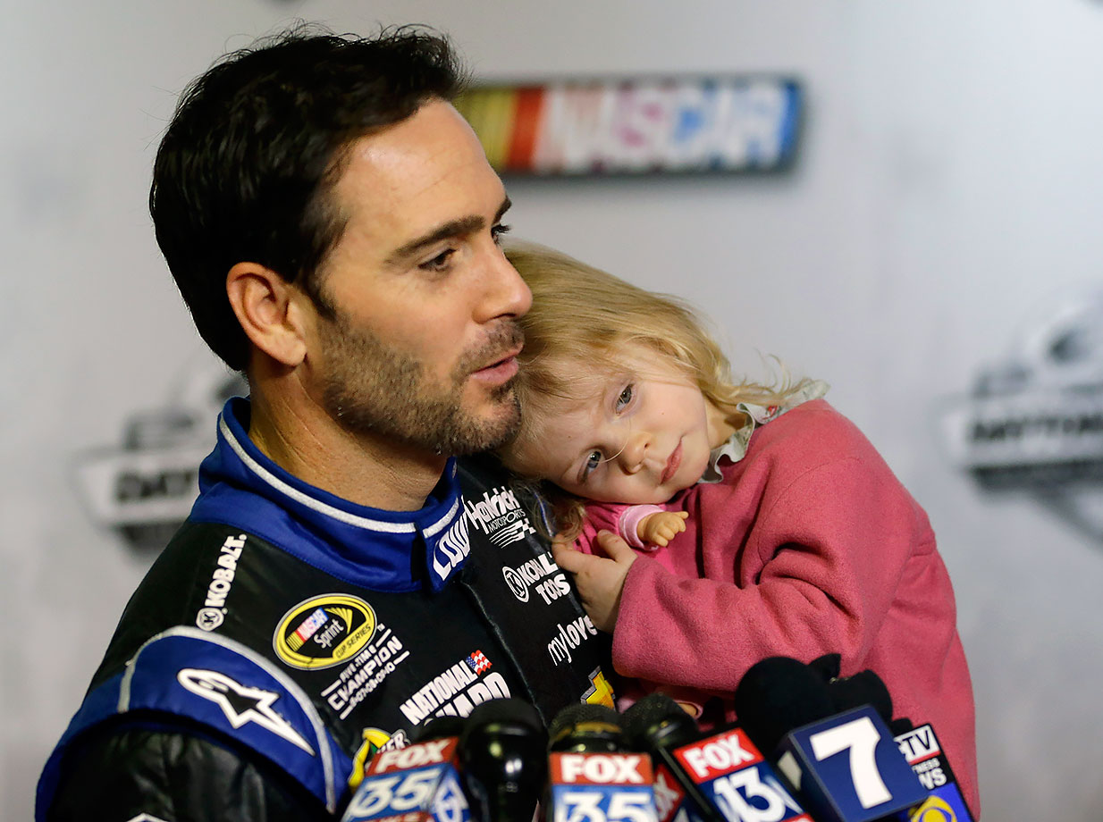 Jimmie Johnson and daughter Genevieve