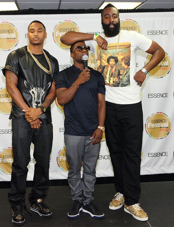 with Trey Songz and Kevin Hart