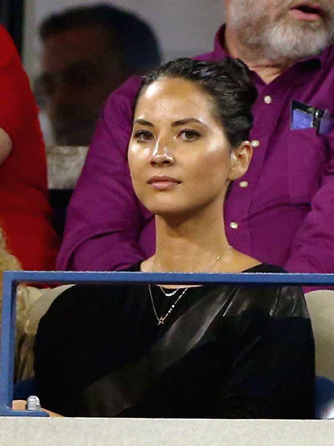 Olivia Munn attends Day Three of the US Open at the USTA Billie Jean King National Tennis Center on Aug. 28, 2013 in Flushing, N.Y.