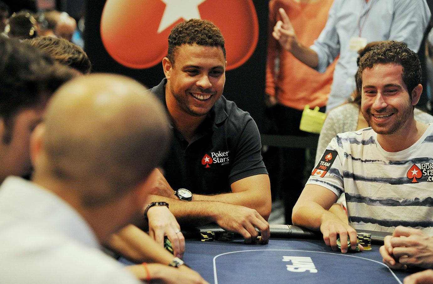 Ronaldo attends the 2013 European Poker Tour in Barcelona.