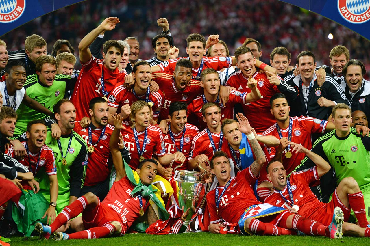 Bayern wins the Champions League over rivals Borussia Dortmund with a 2-1 win at Wembley Stadium.
