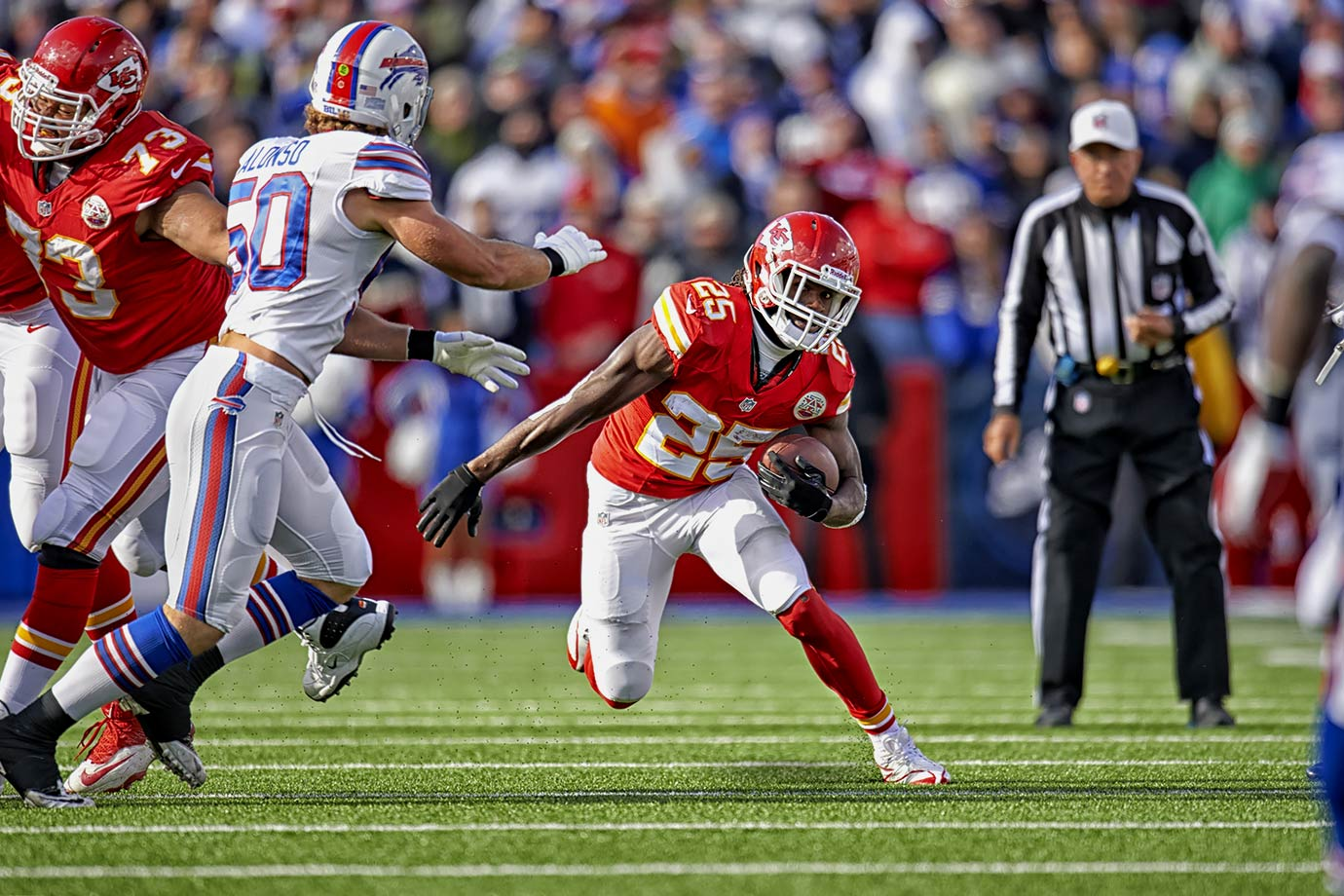 With their Week 9 victory over the Buffalo Bills in 2013, Jamaal Charles and the Kansas City Chiefs matched the franchise record for most consecutive wins. Their bye week may have been detrimental, however, as their streak ended with a 27-17 loss in Denver after the respite.
