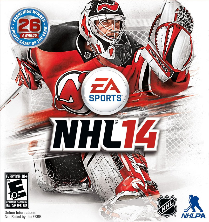 After defeating Blue Jackets goalkeeper Sergei Bobrovsky in an online vote in June 2013, Brodeur won the honor of being the cover athlete on EA's NHL 14 video game.