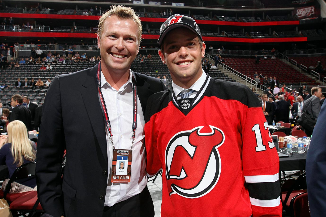 After the Devils acquired the 208th pick in the 2013 NHL Draft from the Kings, Brodeur was given the very special privilege of making the announcement that New Jersey had selected his son, Anthony, 18, a goalie out of Minnesota's Shattuck-St. Mary's prep school, in the seventh and final round.