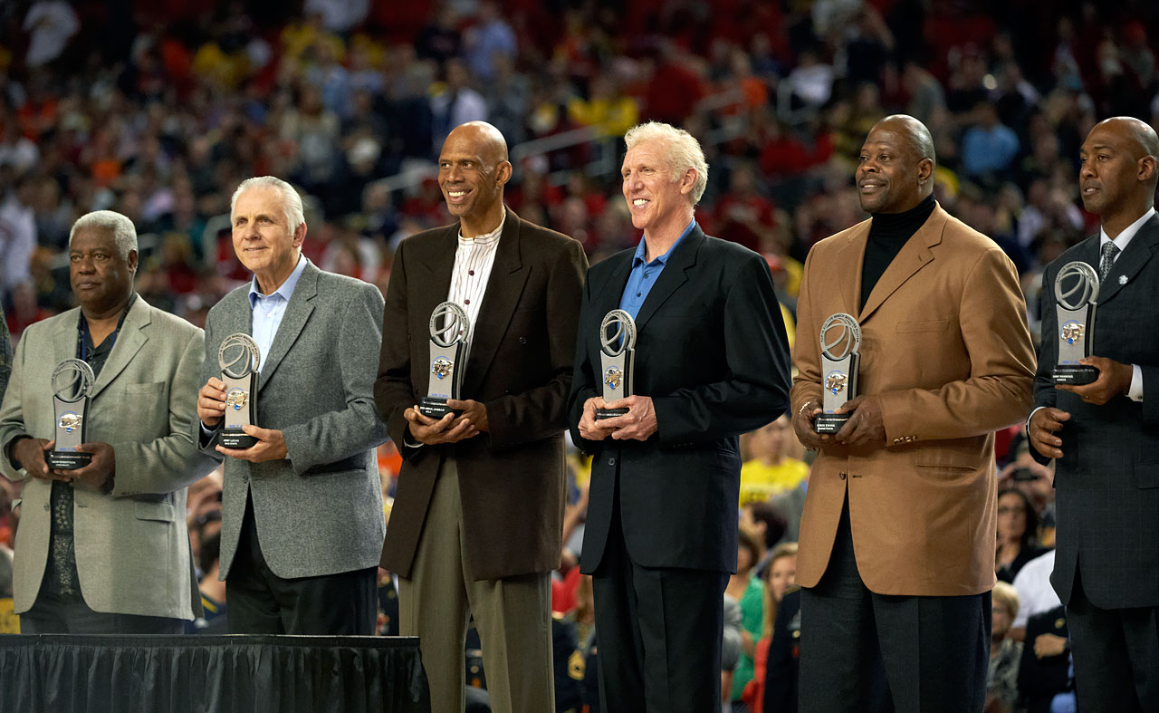 with Oscar Robertson, Jerry Lucas, Bill Walton, Patrick Ewing and Danny Manning