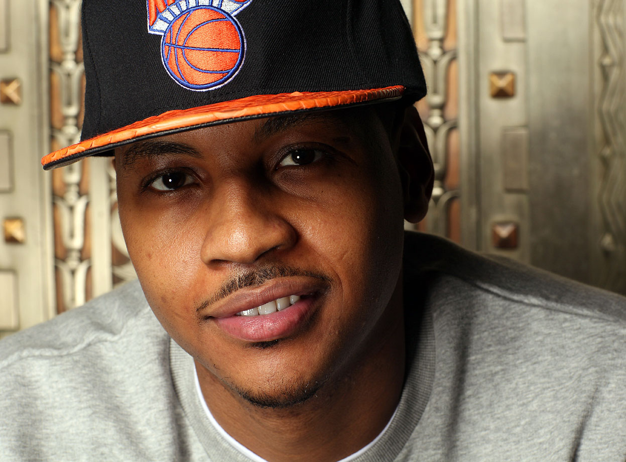 'Melo flashes a smile during this SI portrait shoot.