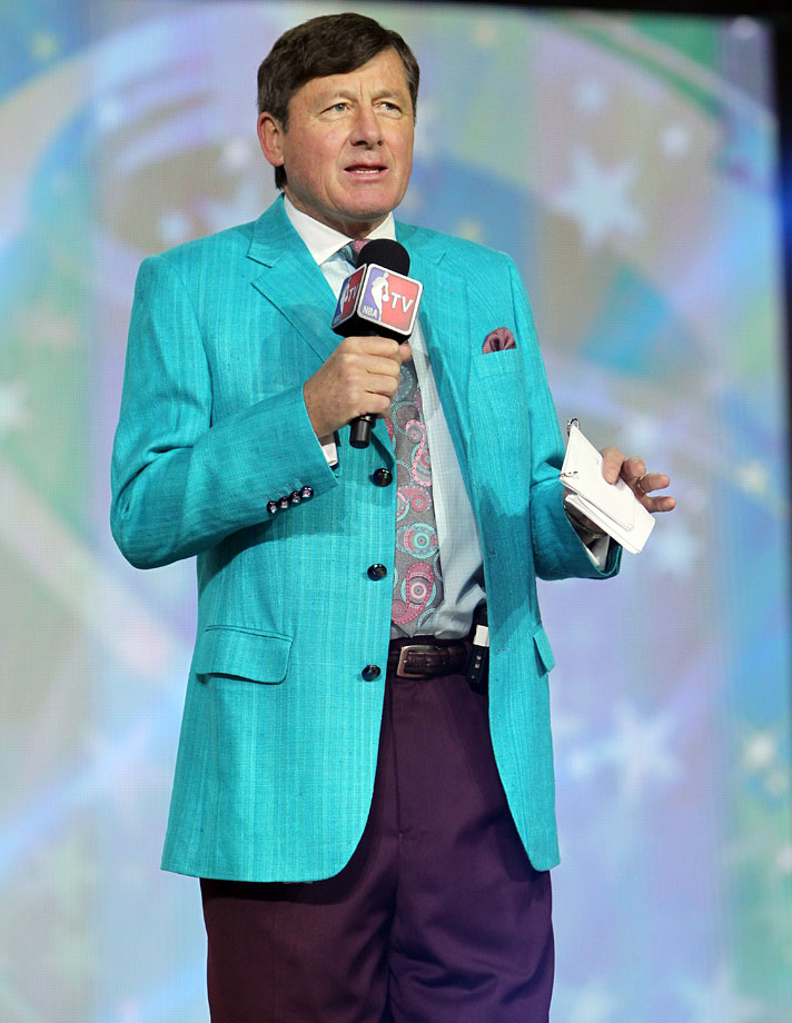 Craig Sager introduces the players during the NBA All-Star Practice on Feb. 16, 2013 at the George R. Brown Convention Center in Houston.
