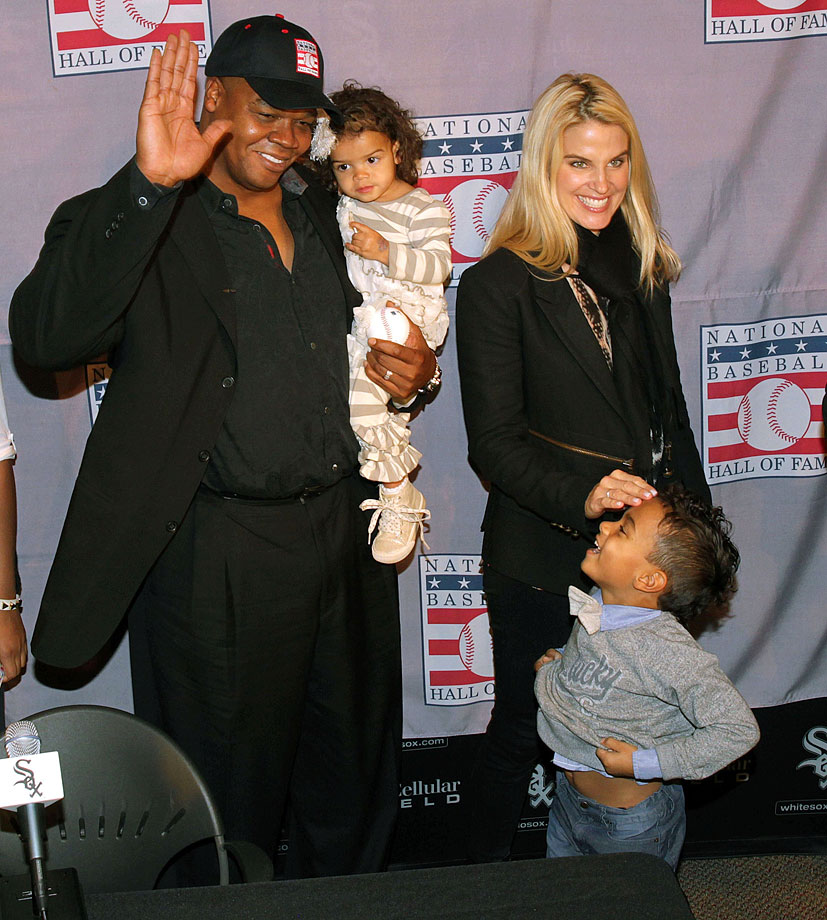 Frank Thomas, wife Meghan, daughter Ashley and son Frank III
