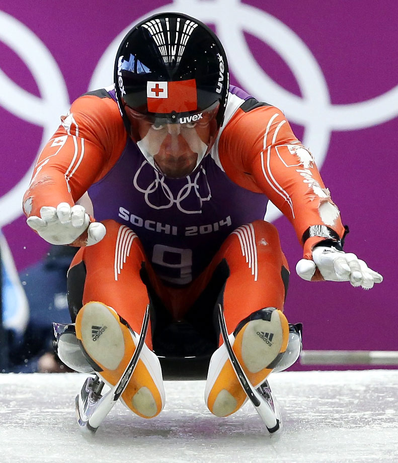 In a promotional deal, Tonga's first Winter Olympian, luger Fuahea Semi, legally changed his name to that of a German underwear company, Bruno Banani.