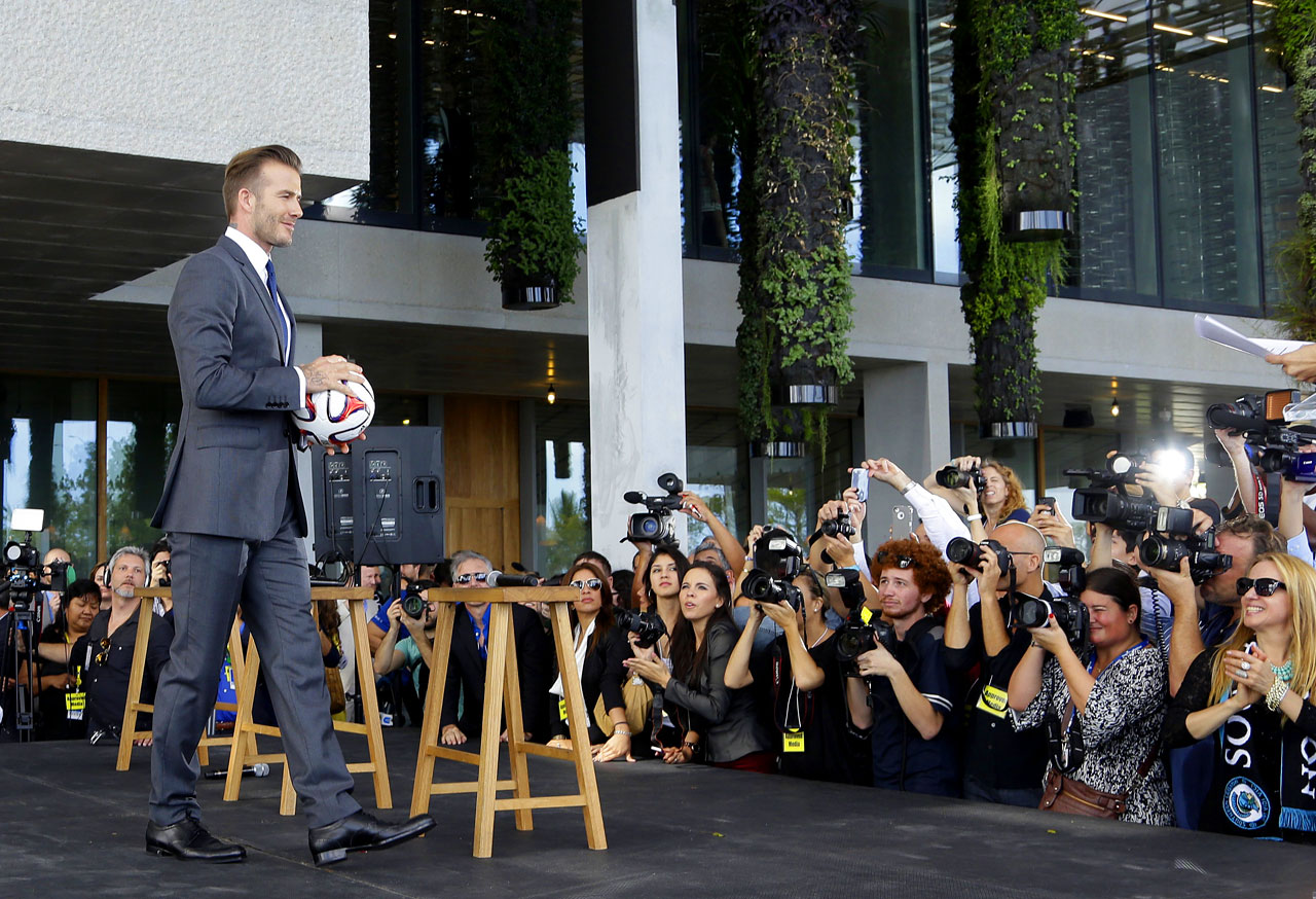 Beckham announced in February 2014 that he had exercised his option to buy an MLS expansion team, and the proposed location for the team is Miami. Beckham is enamored with Miami's waterfront, strongly believes in South Florida as a soccer market, and feels a stadium in the heart of the city with a view of the skyline is ideal.