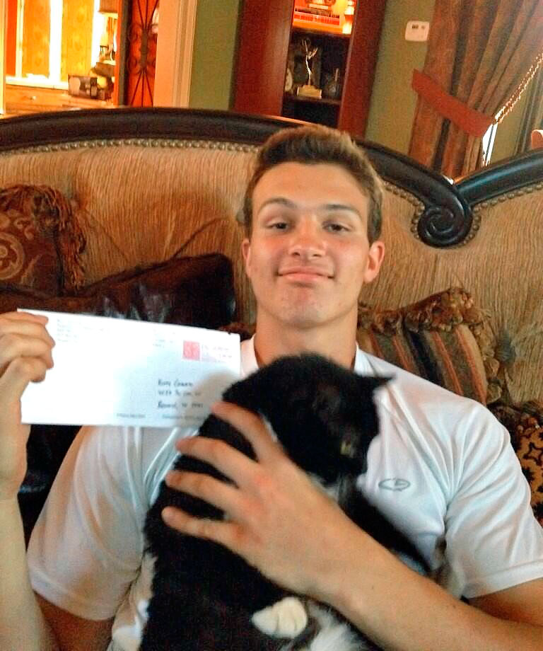 J.T. Granato, three-star quarterback at Kinkaid (Texas) School and feline enthusiast, committed to Rice after the Owls' offensive coordinator sent a handwritten recruiting letter to his cat.