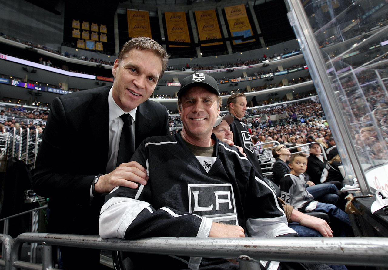 Will Ferrell poses with Luc Robitaille during Game One of the Stanley Cup Final between the Los Angeles Kings and New York Rangers on June 4, 2014 at Staples Center in Los Angeles.