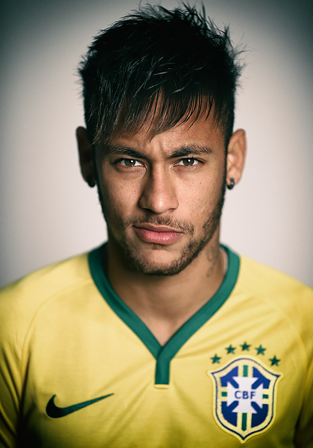 Neymar of Brazil poses during the official FIFA World Cup 2014 portrait session on June 8, 2014 in Rio de Janeiro, Brazil.