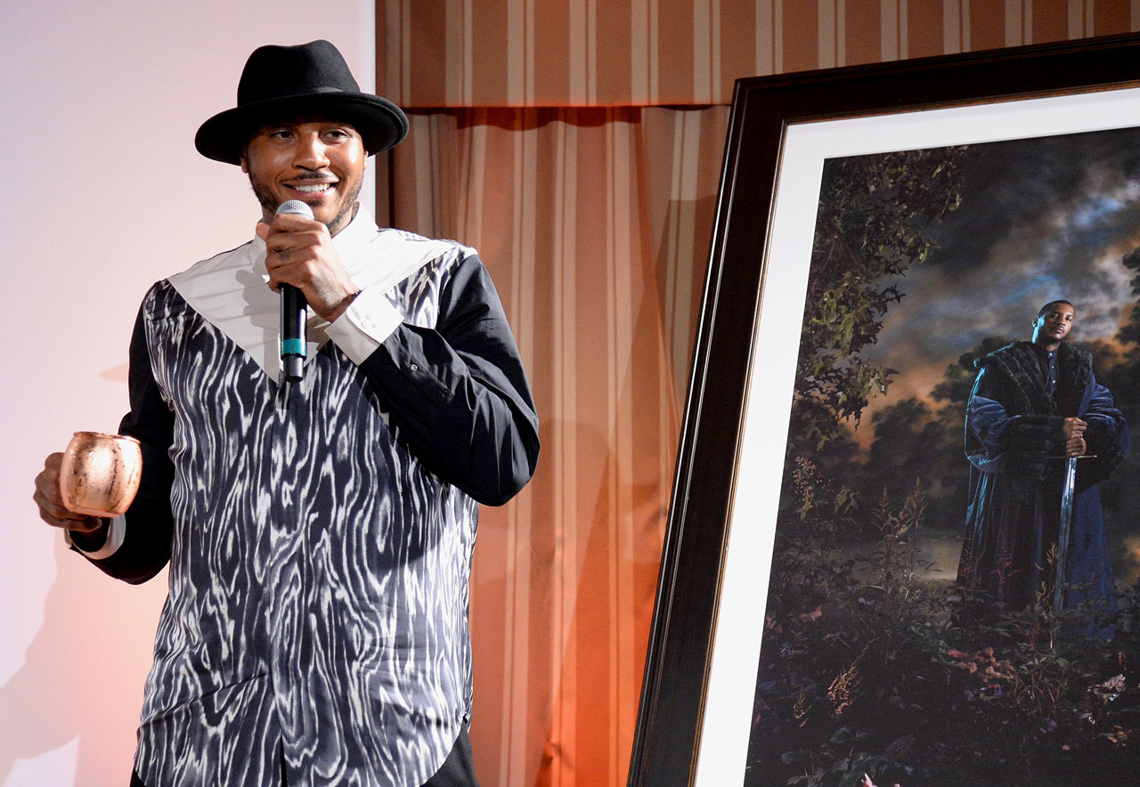 Carmelo Anthony attends the Kehinde Wiley Dinner Hosted by Grey Goose at Sunset Tower in West Hollywood, Calif.