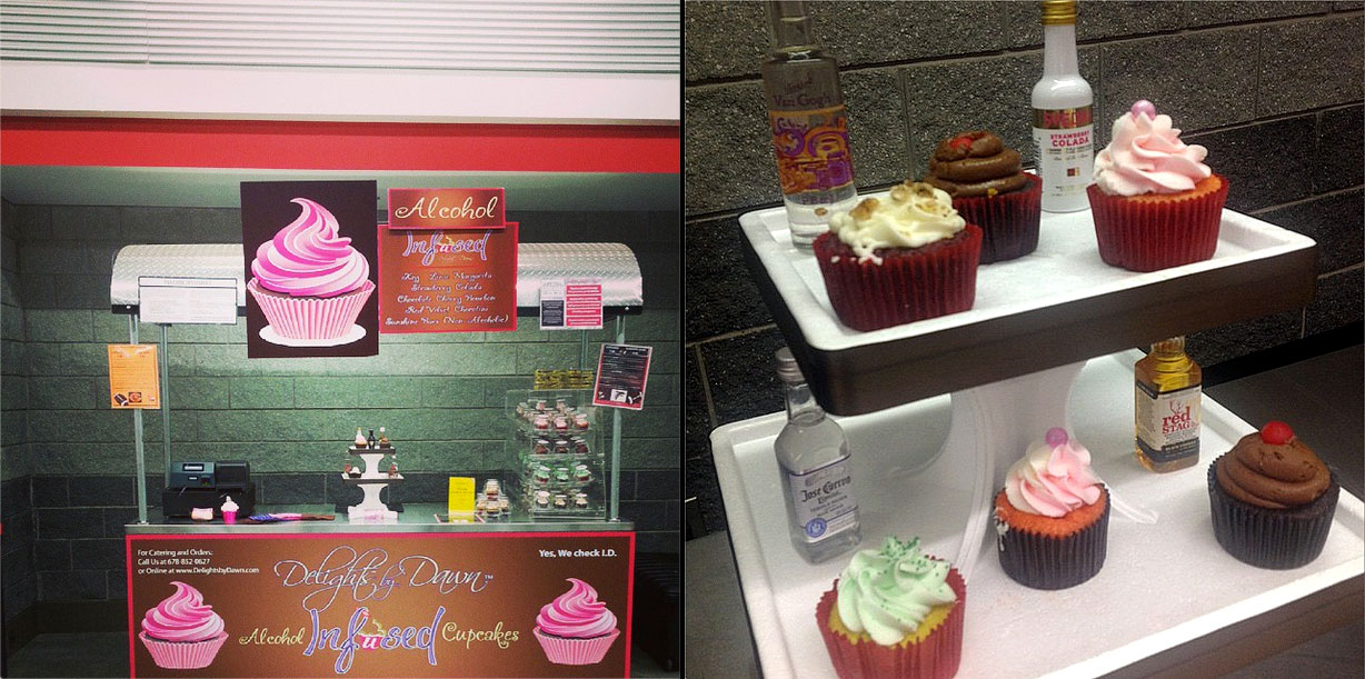 The Falcons will sell alcohol-infused cupcakes at the Georgia Dome this season.