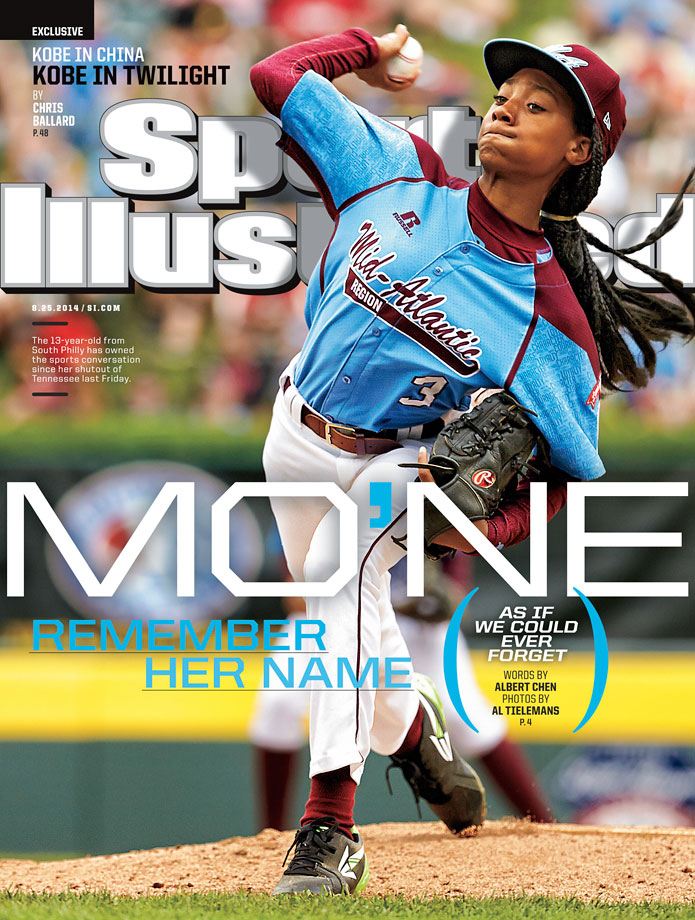 Mo'ne Davis, dominating for Pennsylvania in the 2014 Little League World Series, was the first Little League player to appear on the cover of SI. Her first game afterwards, she pitched 2.1 innings and gave up 3 runs on 6 hits, taking an 8-1 loss to Nevada. Pennsylvania would be eliminated in their next game by Illinois.