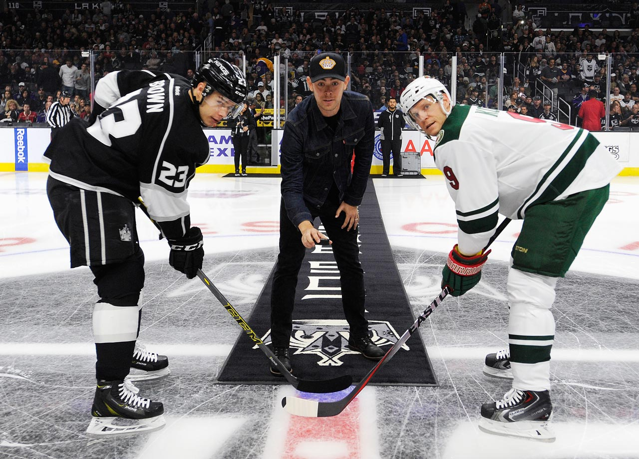 Oct. 19, 2014: Los Angeles Kings vs. Minnesota Wild at Staples Center in Los Angeles