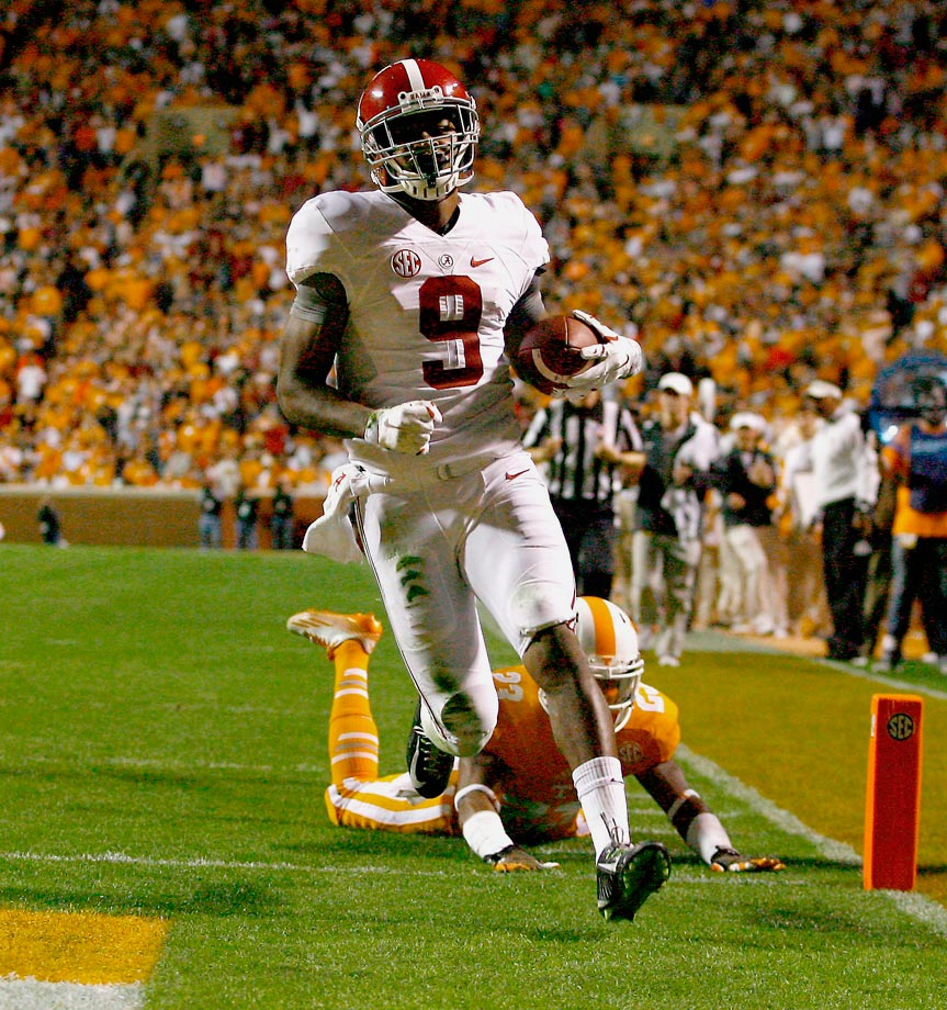 Cooper continued his stellar 2014 season in Knoxville, Tenn. Alabama's star receiver opened the scoring with touchdown grabs of 80 and 41 yards and finished with 224 yards on the night.