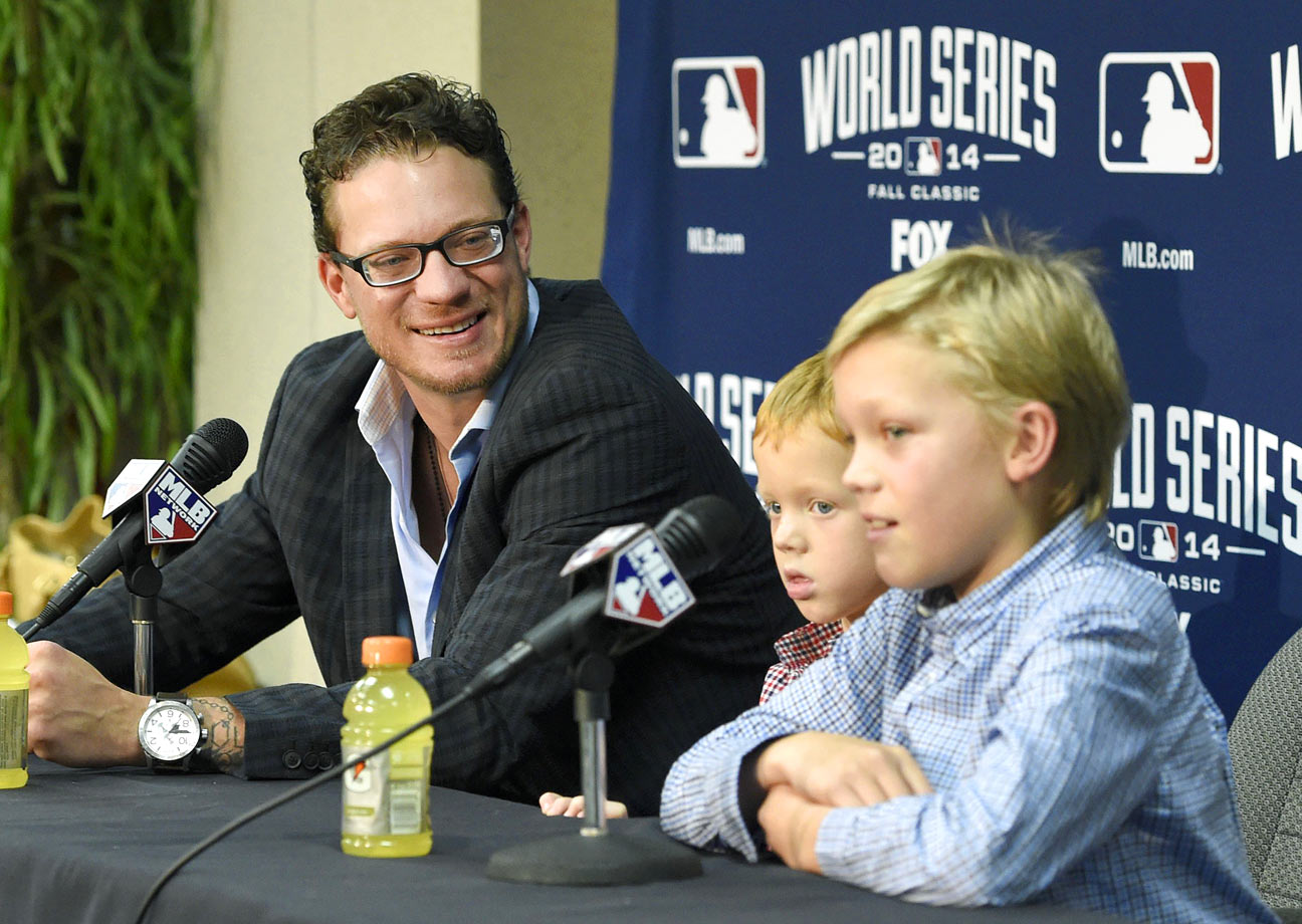 Jake Peavy and sons Jake Jr. and Wyatt