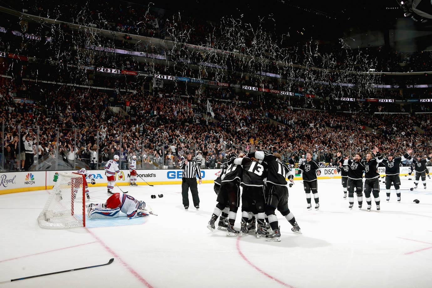 New York Rangers goalie Henrik Lundqvist was despondent after the Kings' Alec Martinez s cored the Stanley-Cup clinching goal in double overtime of Game 5 in Los Angeles.