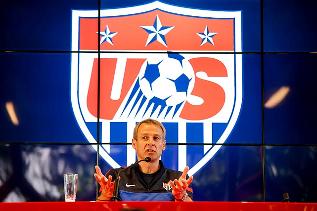 Klinsmann speaks during a press conference at the Sao Paulo FC training centre in January 2014.