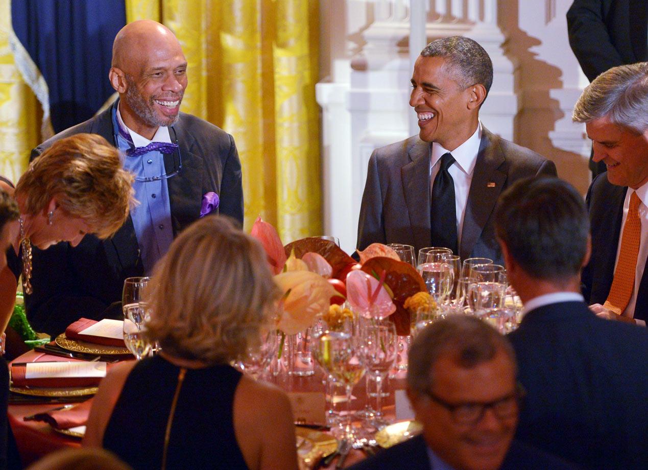with President Barack Obama