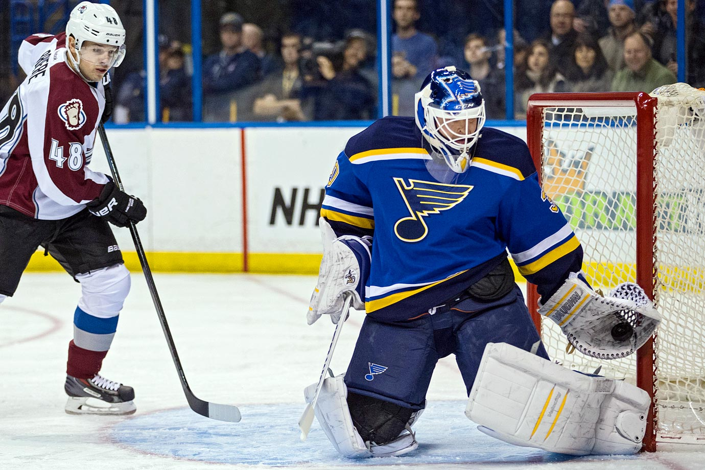 Unsigned as a free agent, Brodeur inked a one-year, $700,000 deal with the injury-plagued St. Louis Blues on Dec. 2, 2014. He concluded his legendary career with seven appearances, a 3-3-0 record, .899 save percentage and 2.87 GAA. On Jan. 29, 2015, he announced his retirement as the NHL's all-time leader in games played by a goalie (1,266), saves (28,928), wins (691), shutouts (125), and playoff shutouts (24).