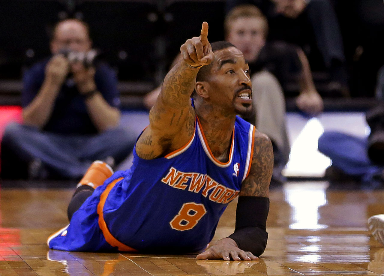 J.R. Smith being fined $50,000 for repeated attempts to untie opponents' shoelaces epitomized how low this benighted franchise can stoop. After finishing first in the Atlantic Division in 2012-13, the Knicks reverted to form, falling short of the playoffs and getting coach Mike Woodson canned. and the franchise cast its lot with Phil Jackson, who was brought in as team president. Now it's up to team president Phil Jackson to make turkey salad on Broadway.