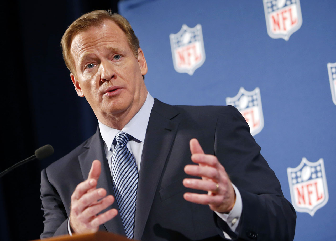 The commissioner of the nation's mightiest, most popular league brought down the wrath of the public and, unthinkably, major sponsors with his tepid handling of the Ray Rice domestic abuse case despite its damning and horrifying video evidence that he may or may not have seen. Goodell's subsequent press conference was widely ridiculed for vague, ambiguous ramblings that surely made politicians everywhere envious.