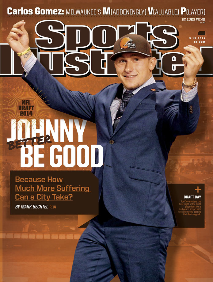 Some went wild when the Cleveland Browns selected Johnny Manziel at No. 22 overall, but many Clevelanders remained wary of Johnny Football, with that tension detailed in the May 19, 2014 issue of Sports Illustrated.