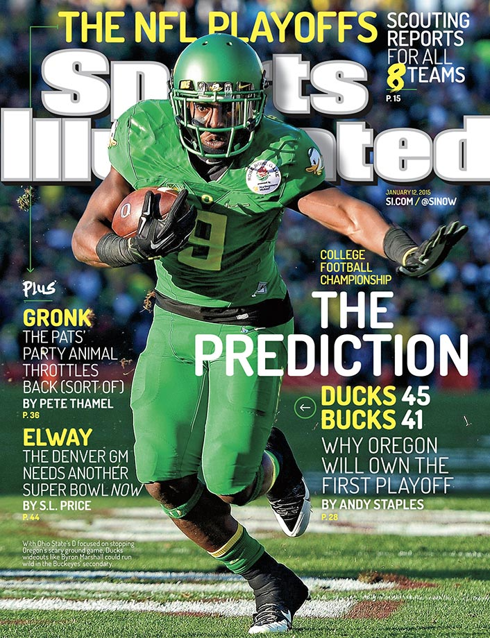 The Oregon Ducks were predicted to win the National Championship, 45-41, but lost 42-20 to the Ohio State Buckeyes.