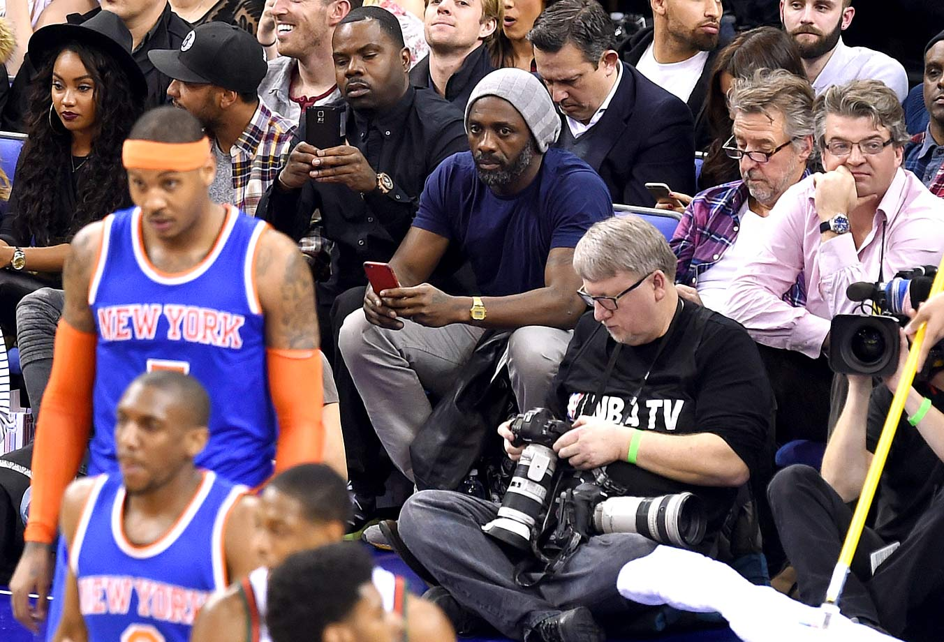 Jan. 15, 2015: New York Knicks vs. Milwaukee Bucks at 02 Arena in London