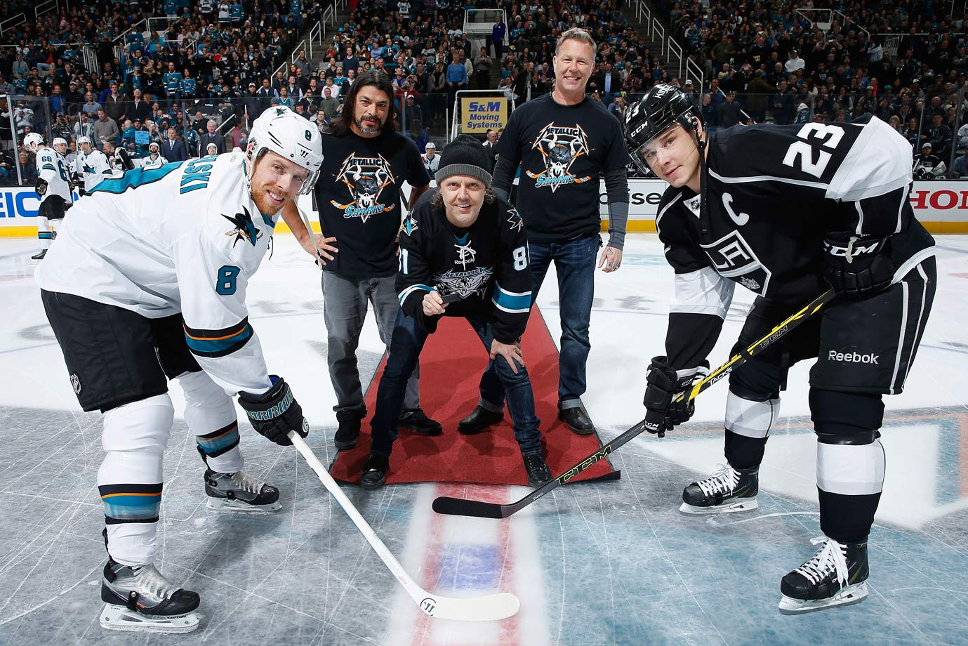 "Jan. 21, 2015: San Jose Sharks vs. Los Angeles Kings at SAP Center in San Jose, Calif. -- ""Metallica Night"""