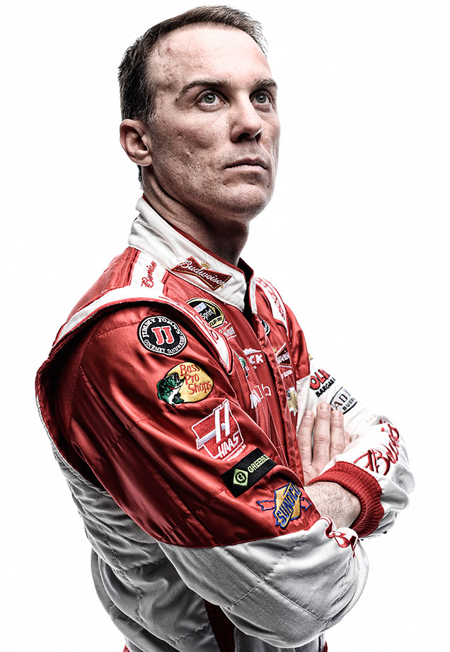 Kevin Harvick poses for a portrait at Daytona International Speedway on February 12, 2015.